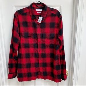 Urban Outfitters Red Plaid Button Down Shirt